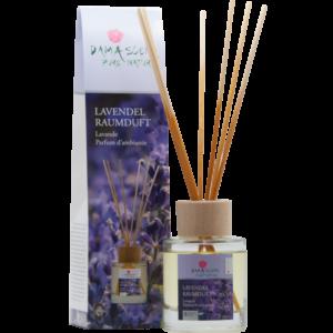 Lavendel mit Holzstäbchen